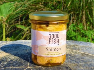 Salmon in Jar 2 1 324x243 - Salmon Fillets in Organic Olive Oil 200g
