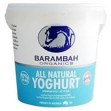 Barambah plain yoghurt 1kg - Yoghurt - All Natural 1kg