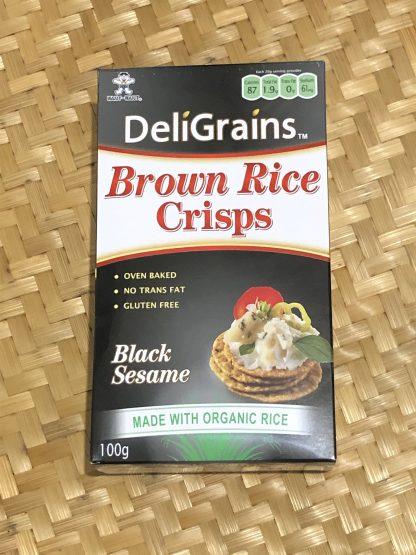 DeliGrains Brown Rice Crisp 416x555 - Crackers - Brown Rice Crisps Black Sesame