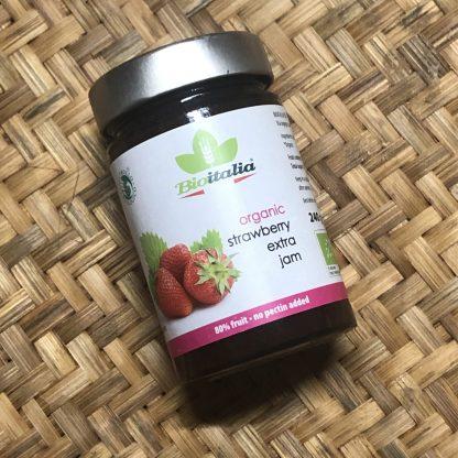 Jam Bio Italia Organic Strawberry 240gr 3 scaled e1591567796597 416x416 - Jam - Organic Strawberry 240gr