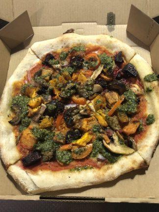 roast veg and pesto VEGAN e1585974651654 324x432 - Woodfired Organic Pizza - Roasted Vegetable & Pesto (Vegan)
