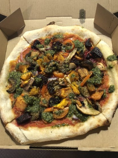 roast veg and pesto VEGAN e1585974651654 416x555 - Woodfired Organic Pizza - Roasted Vegetable & Pesto (Vegan)